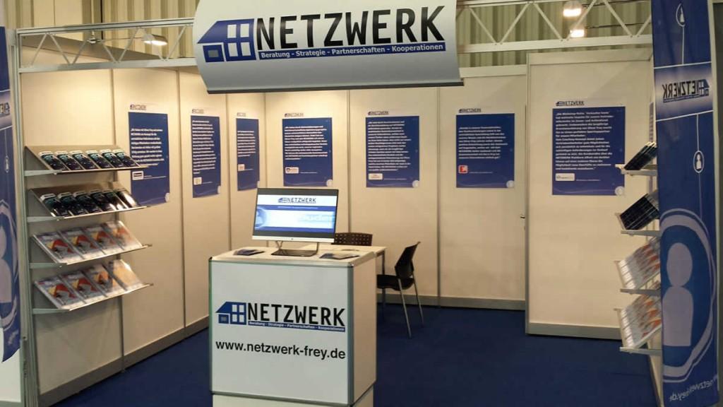 Der NETZWERK-Infostand auf der diesjährigen Fensterbau Frontale in Nürnberg