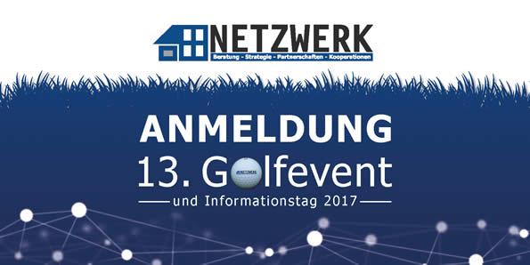 Titel Anmeldung NETZWERK Golfevent 2017