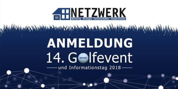 Titel Anmeldung NETZWERK Golfevent 2018
