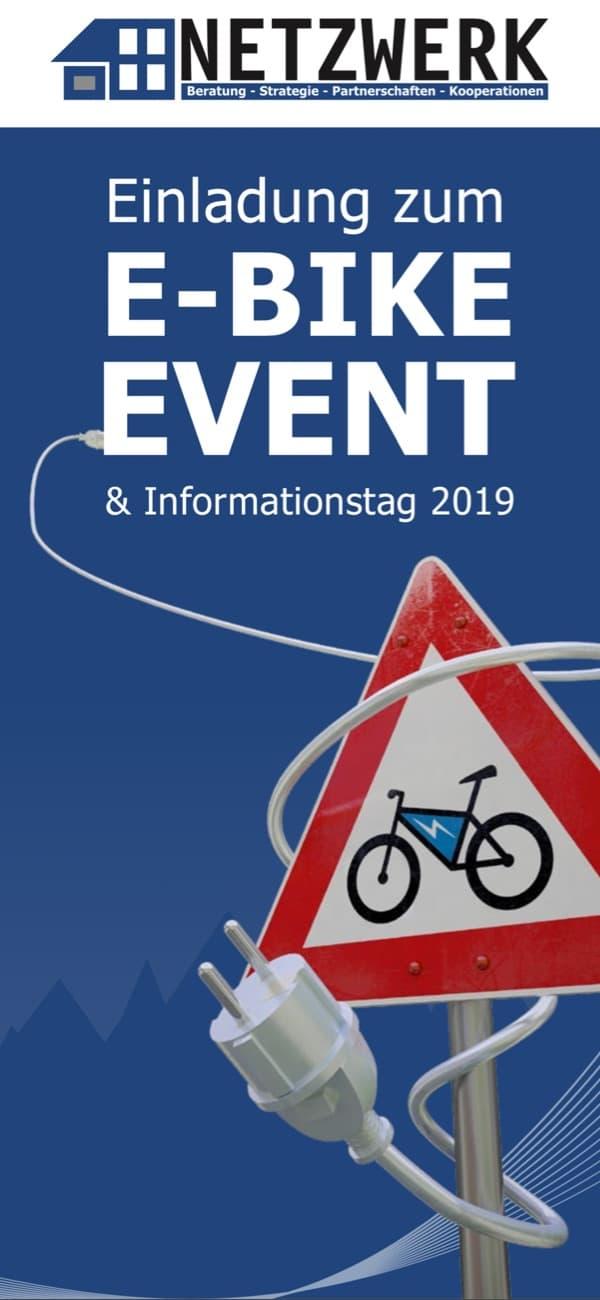 Titelblatt Einladung E-Bike Event 2019