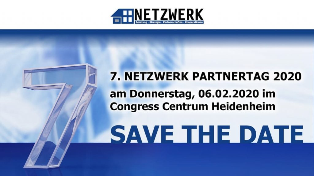 7. NETZWERK PARTNERTAG 2020 - Save the date