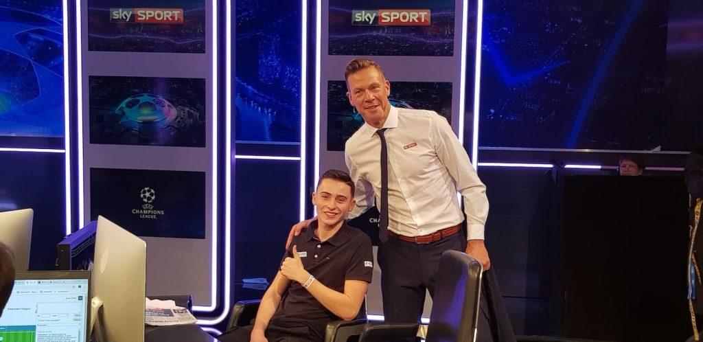 Oliver Frey mit Sohn Niklas zu Gast bei skySport