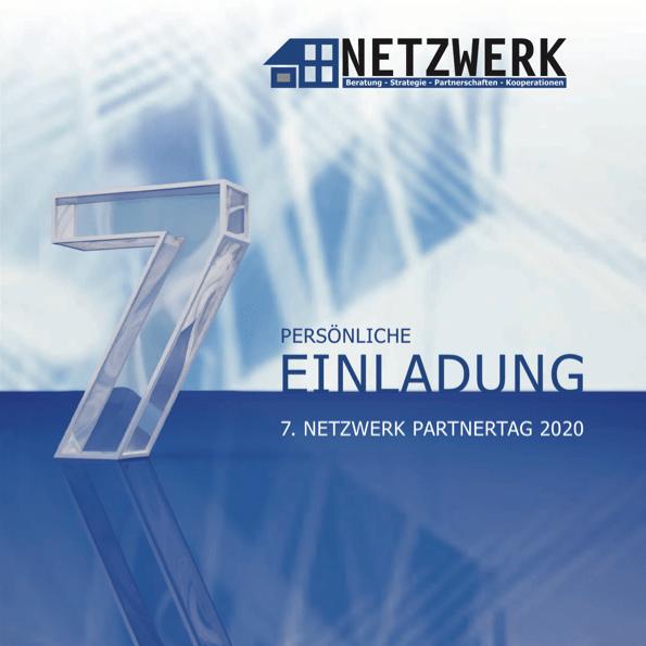 """Titelblatt der PDF """"Einladung zum 7. NETZWERK Partnertag 2020"""""""