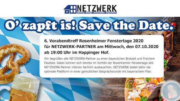 Titel Save the date Rosenheimer Vorabendtreff 2020