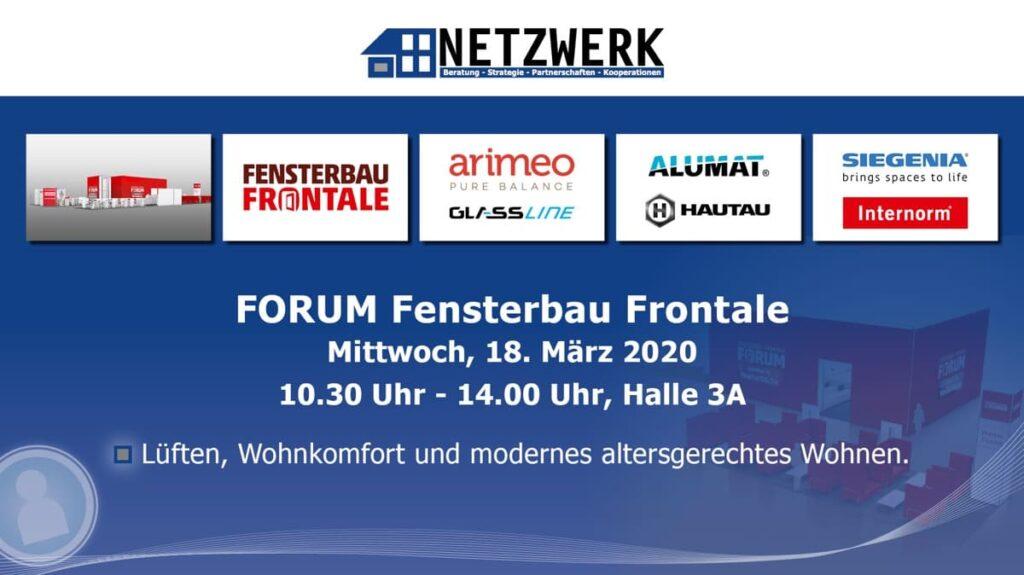 NETZWERK mit Partnern im Forum der Fensterbau Frontale 2020
