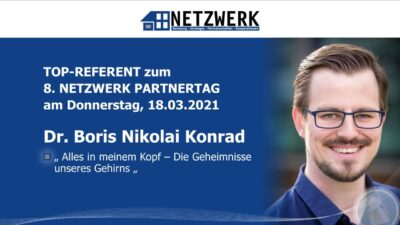 Dr. Boris Nikolai Konrad, Top-Referent beim 8. NETZWERK Partnertag 2021