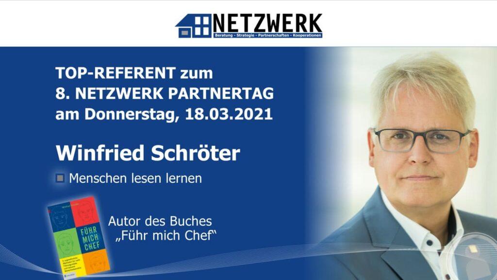 Winfried Schröter, Top-Referent beim 8. NETZWERK Partnertag 2021