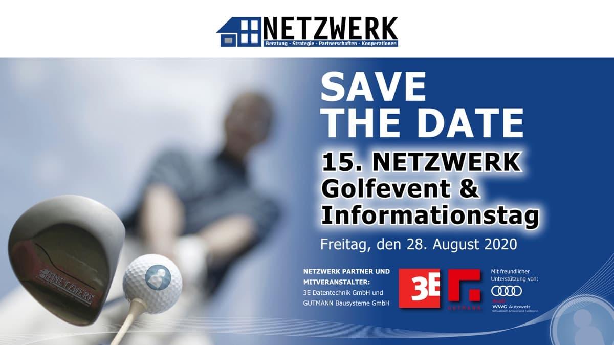 Save the date – 15. NETZWERK Golfevent 2020