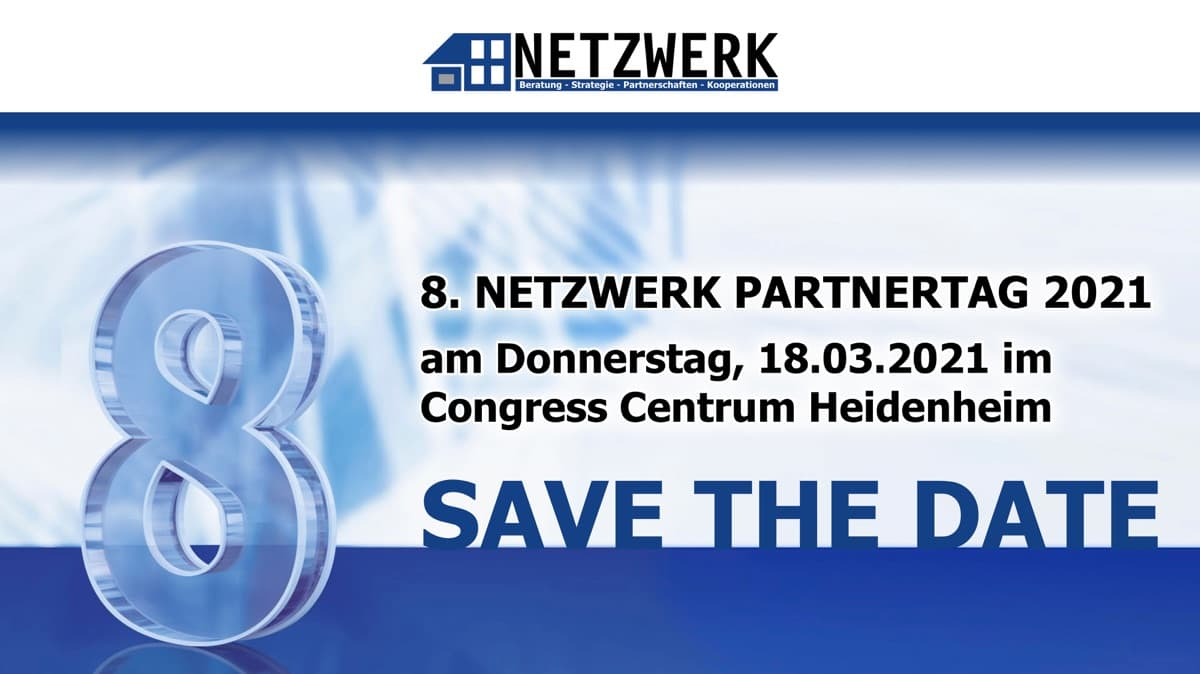 Save the date – 8. NETZWERK Partnertag 2021
