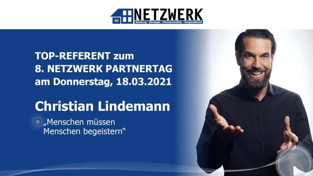Christian Lindemann, Top-Referent beim 8. NETZWERK Partnertag 2021