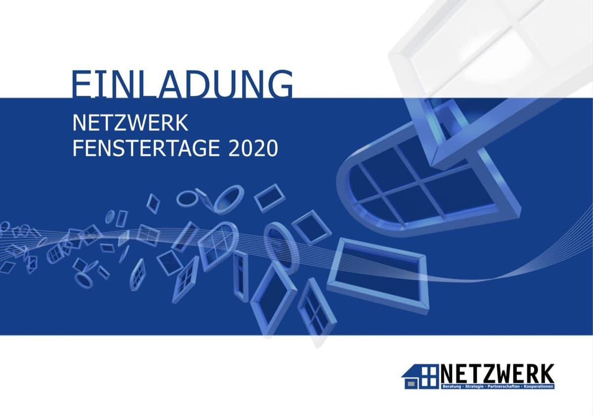 Titelseite EInladung NETZWERK FENSTERTAGE 2020
