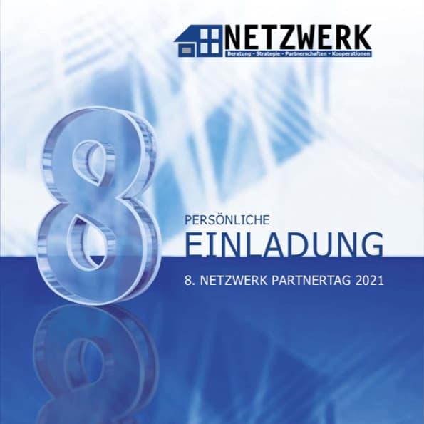 """Titelblatt der PDF """"Einladung zum 8. NETZWERK Partnertag 2021"""""""