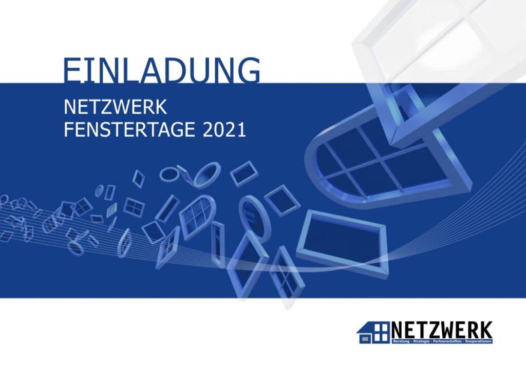 Titelblatt Einladung NETZWERK Fenstertage 2021