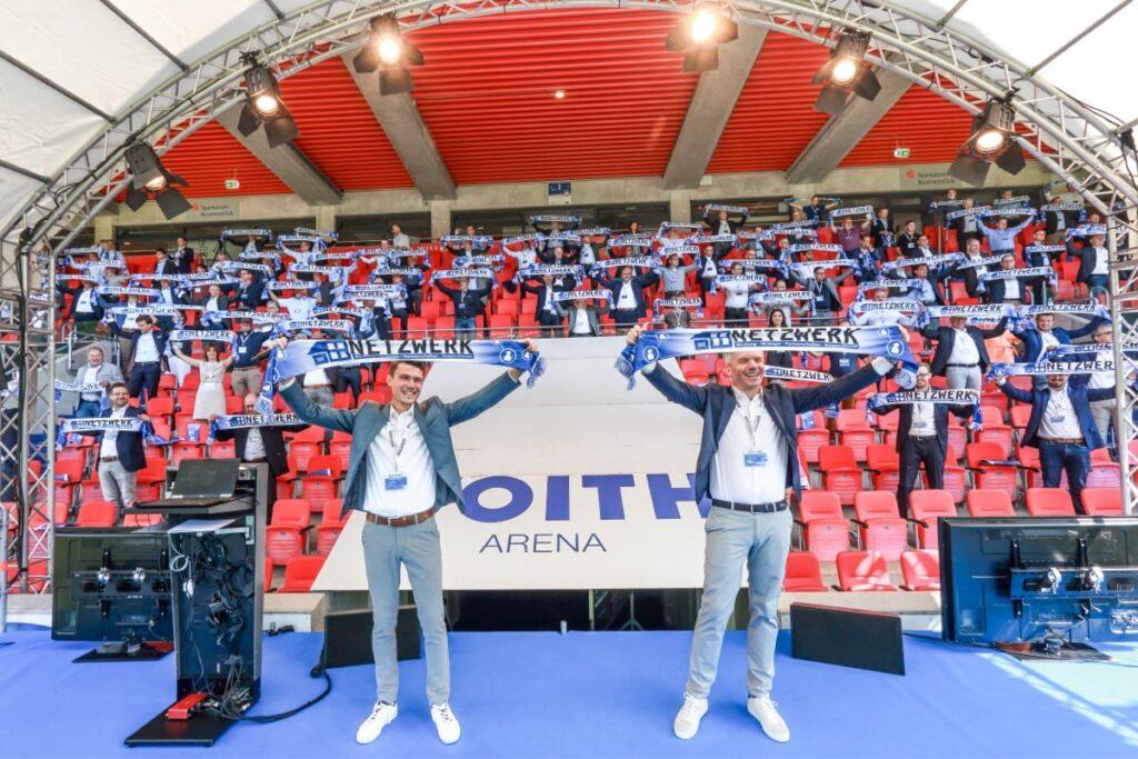 Stadionatmosphäre beim 8. NETZWERK Partnertag 2021