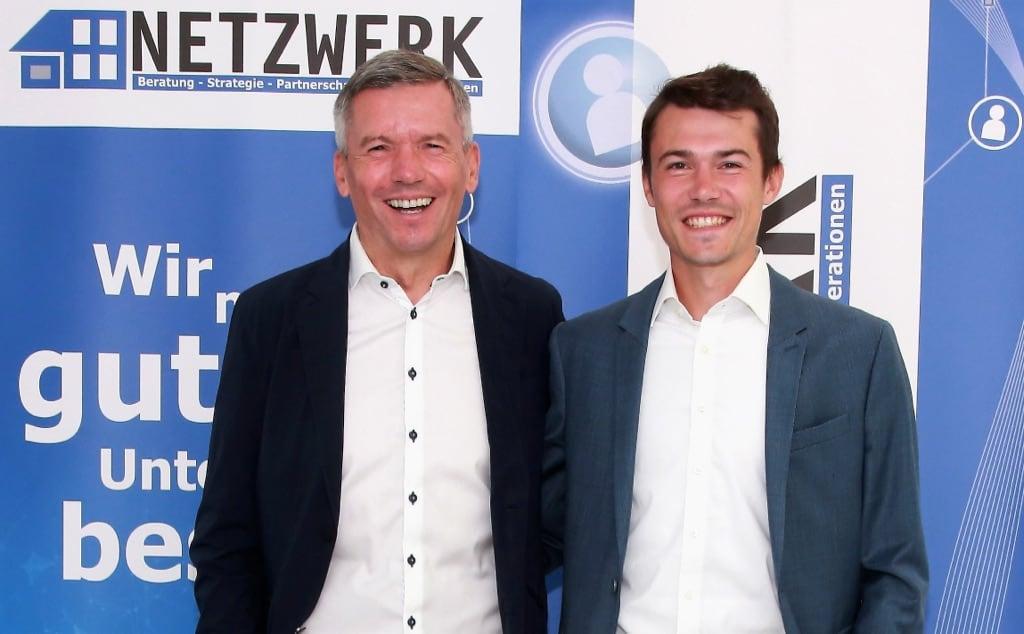 NETZWERK Gründer Oliver Frey mit Sohn Marco