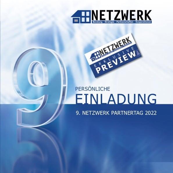 Titelblatt Einladung 9. NETZWERK Partnertag 2022
